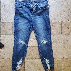 American Eagle Capri Next Level Stretch Jeans